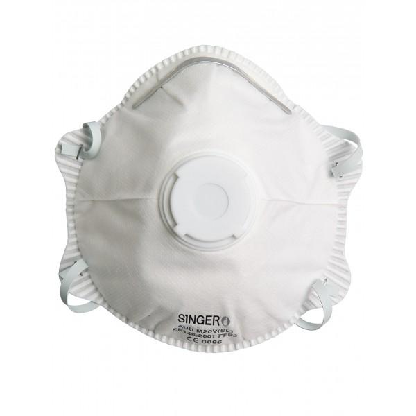 Demi-masque classique avec valve. FFP2 NR D