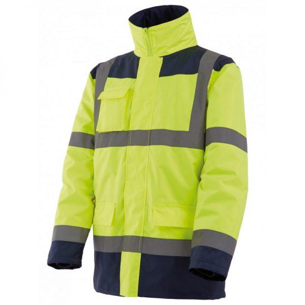 Parka + veste amovible (4x1) Jaune/bleu