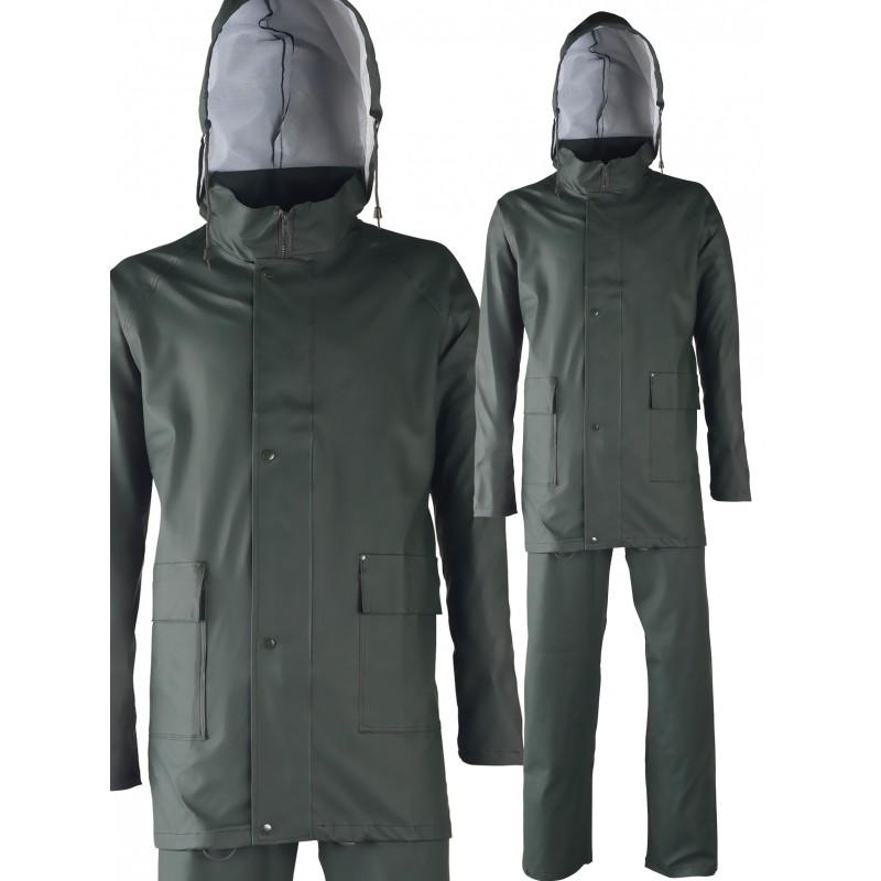 Complet de pluie. Polyuréthane/PVC. Support polyester