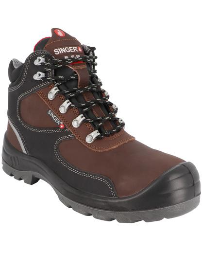 chaussure sécurité haute noir/marron